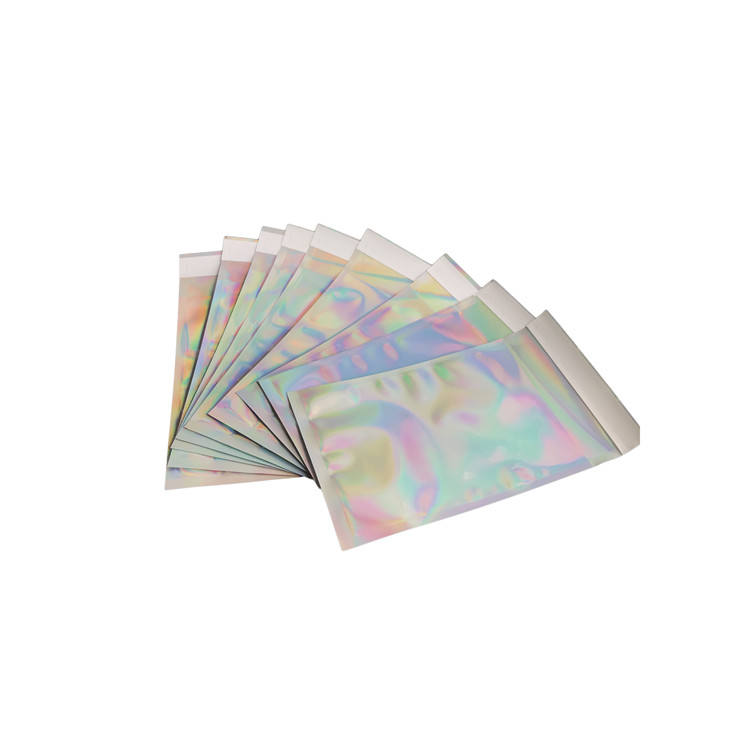 Hologram Shiny Foil Metallic Glamour Holographic Mailers Padded Shipping bag Aluminium foil metallic poly mailer express bag