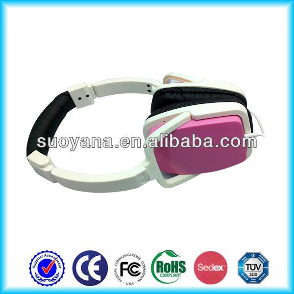 Colorida y de moda plegable auriculares con micrófono 3.5mm