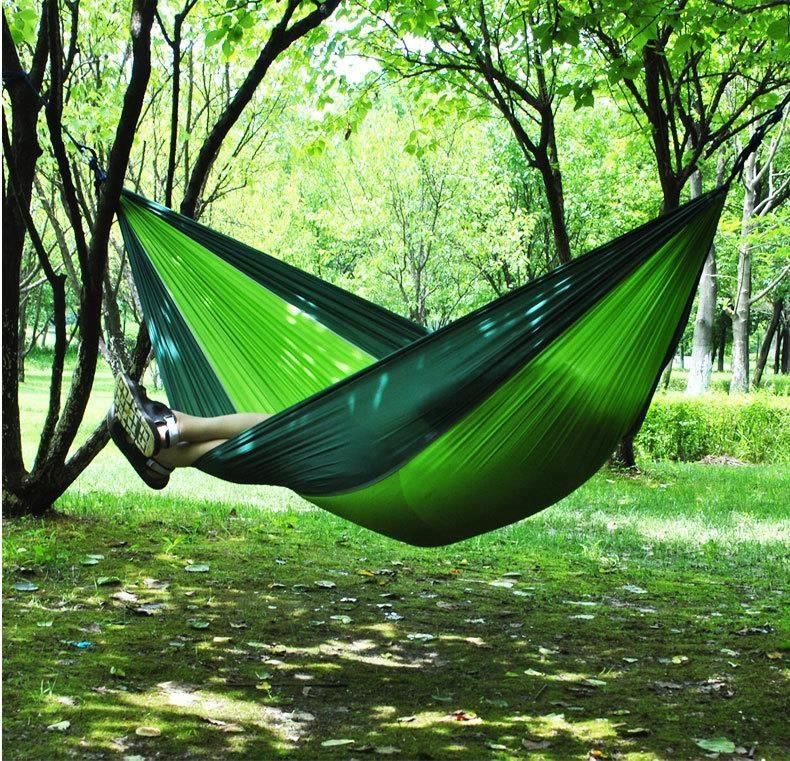Hammocks lightweight swing travelling nylon parachute double for camping bed travel hammock 2