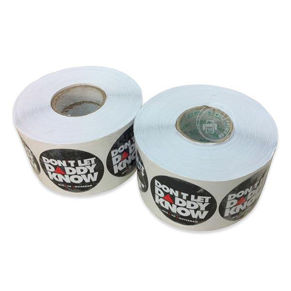 Custom label sticker,self adhesive decal paper jumbo roll,waterproof roll label