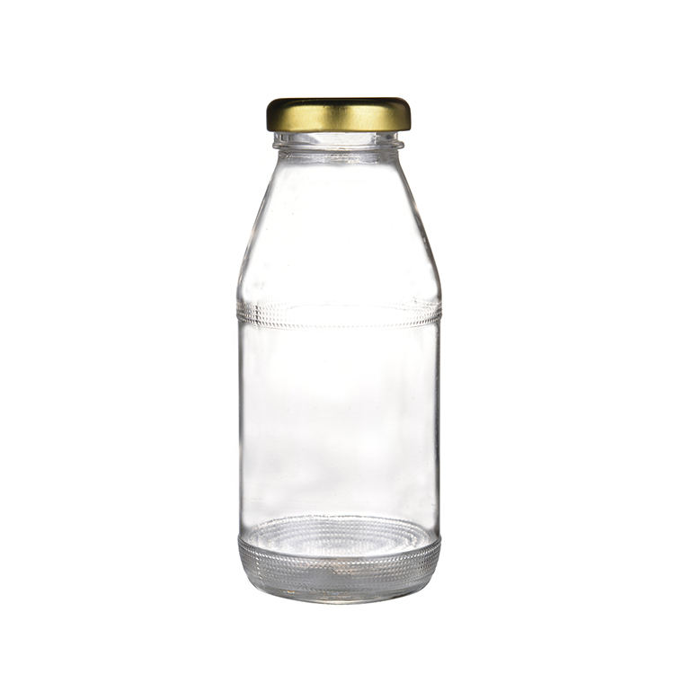 Factory price recyclable custom design glass bottle 250 ml for juice
