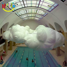 Inflatable cloud decoration inflatable bubble clouds with led light