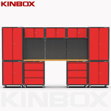 Kinbox 13 Pieces Tool Chest and Cabinet Combination Garage Masterforce Tool Cabinet for Home Garage