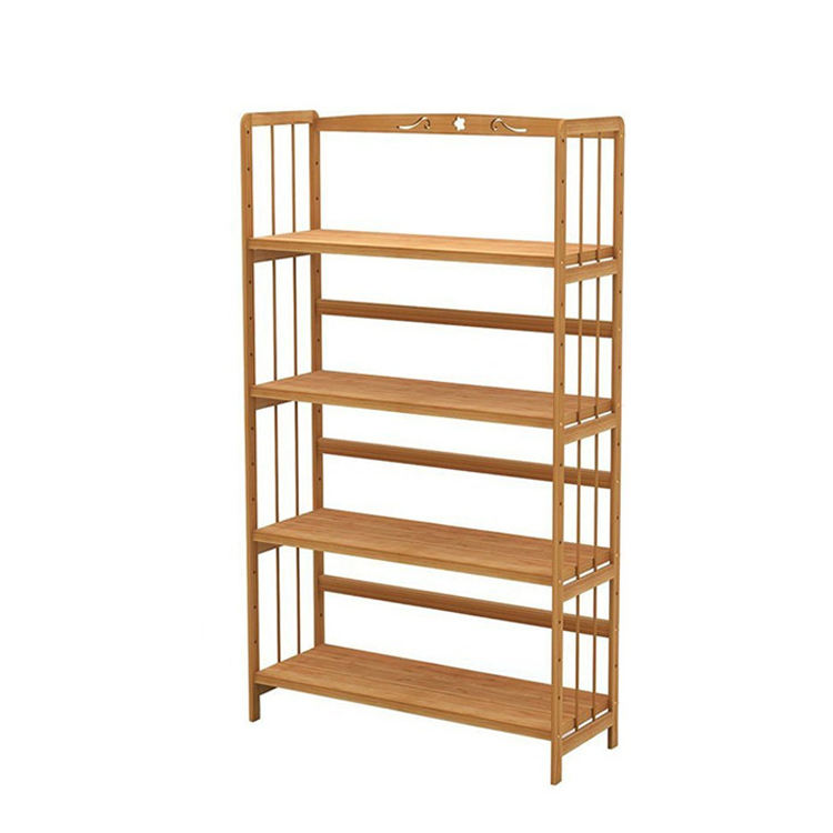 Storage Rack Wood Sofa Side Bamboo Magazine Rack