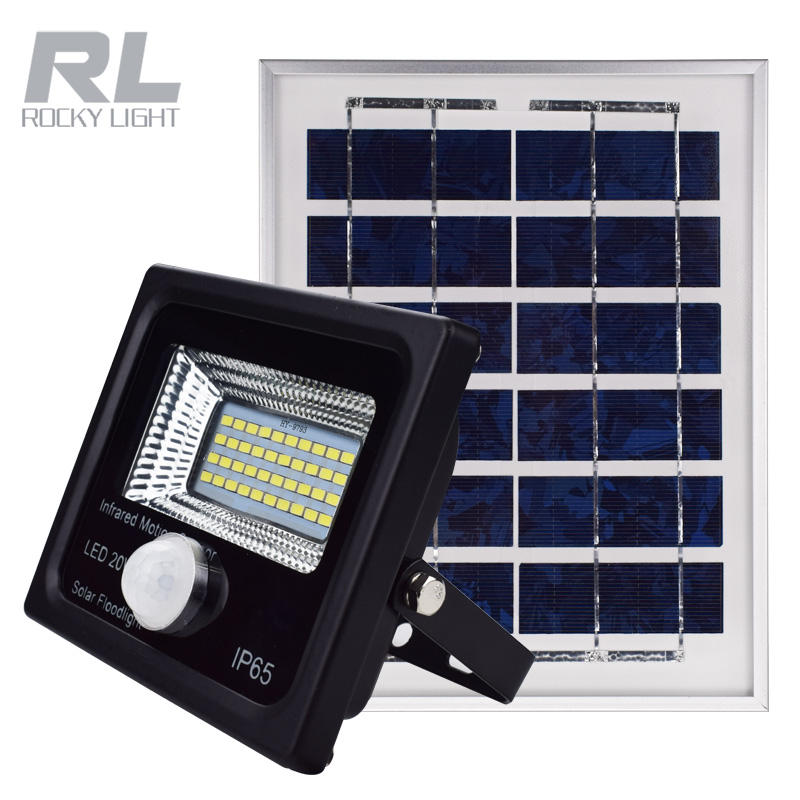 IP65 SMD LED Solar floodlight 20W with Infrared Sensor