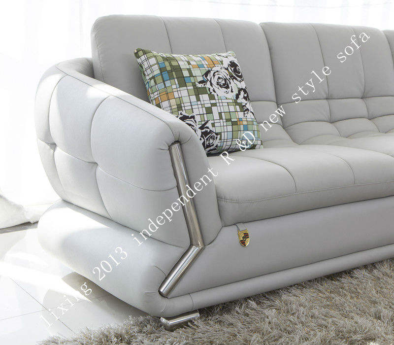 Living room hotel use leather sofa set modern sectional furniture 2y552