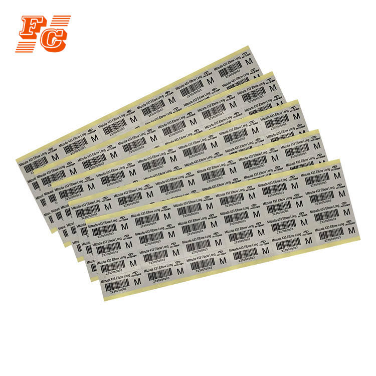Factory Supply Cheap Price Personalized Paper Printed Digital Number Barcode Adhesive Label