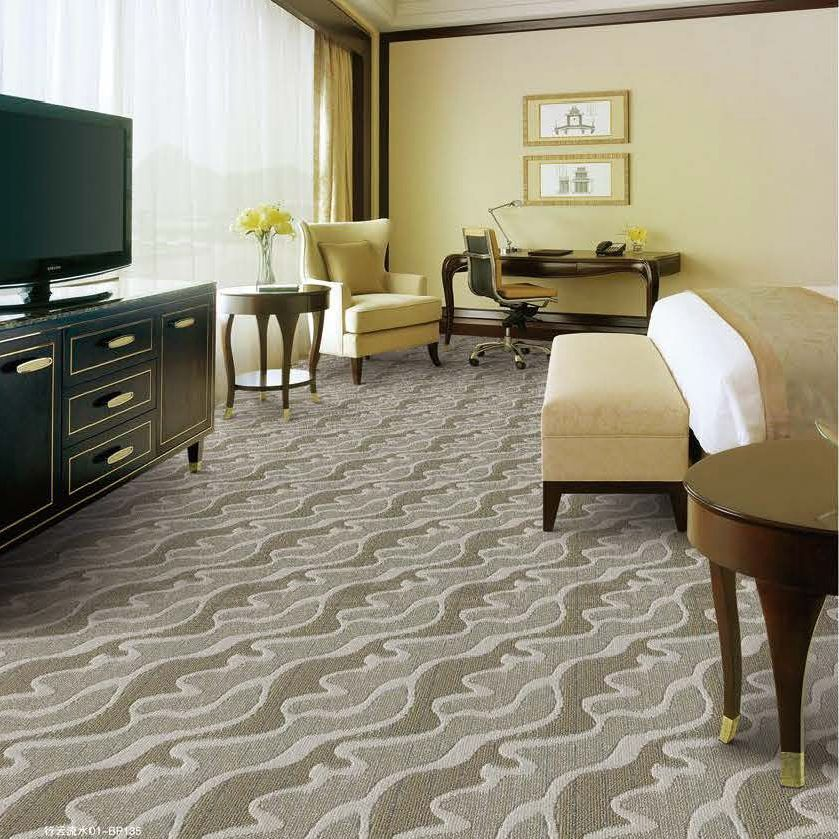 100% PP loop pile action back wall to wall tufted carpet