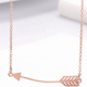 stainless steel metal rose gold color feather necklace