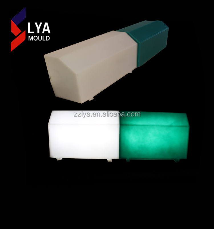 Quality plastic led kerbstone prices lighted plastic curbstone types