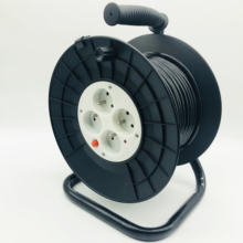 French Type 4 ways 30m cable  grounding reel plastic cable reel with switch