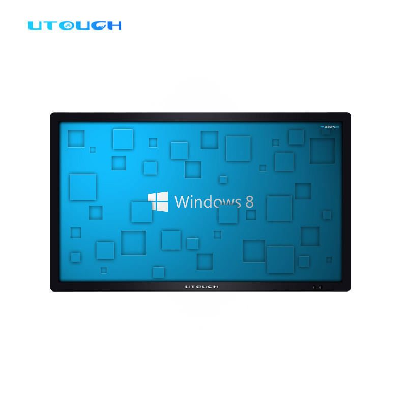 "50"" 4K UHD video school equipments double system computer touchscreen education all in one whiteboard"