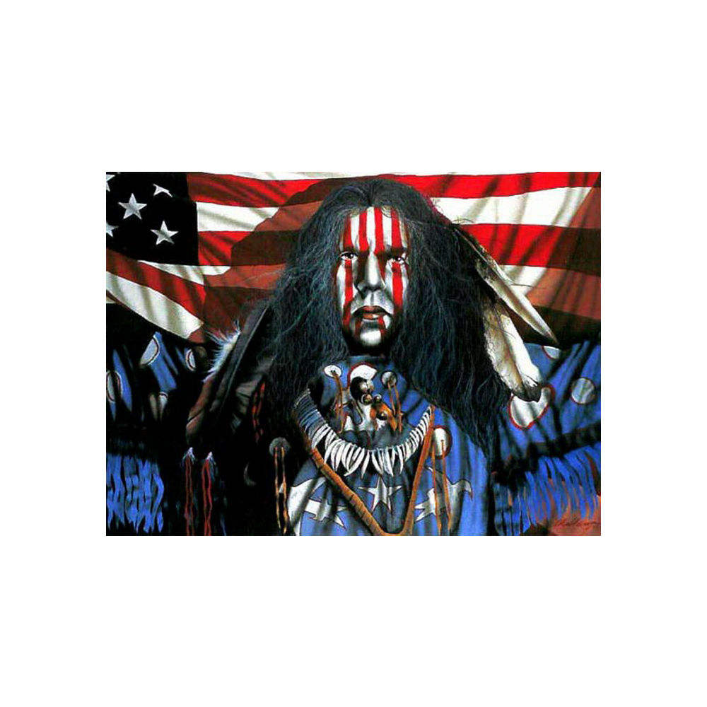 Indian Wall Art Native American Man Colorful Canvas handmade Home Decor Decorative Artwork Gallery