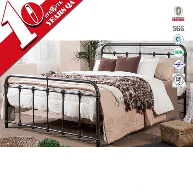Bedroom Furniture European Iron Cot Latest Double Bed Designs
