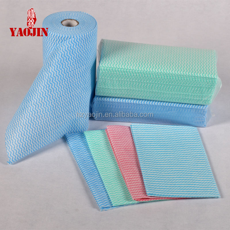High Oil absorption cleaning wipe/mesh spunlace nonwoven cleaning wipe