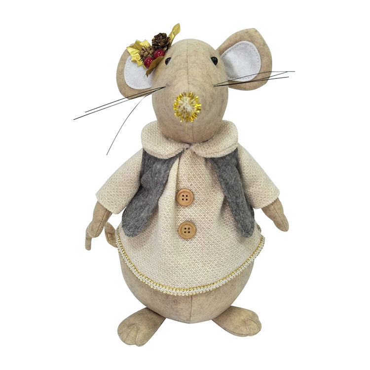One-Stop Service [ Animal Mouse ] 2020 Fabric Sand Animal Door Stopper Toys Christmas Mouse Plush Toy