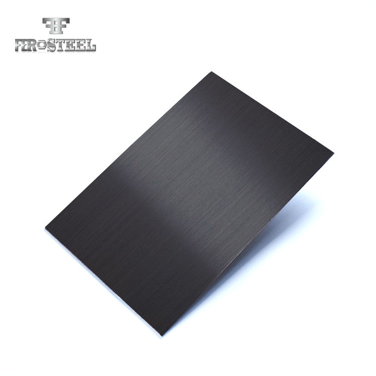 Decoration plate 201 304 HL black color stainless steel sheet 4*8