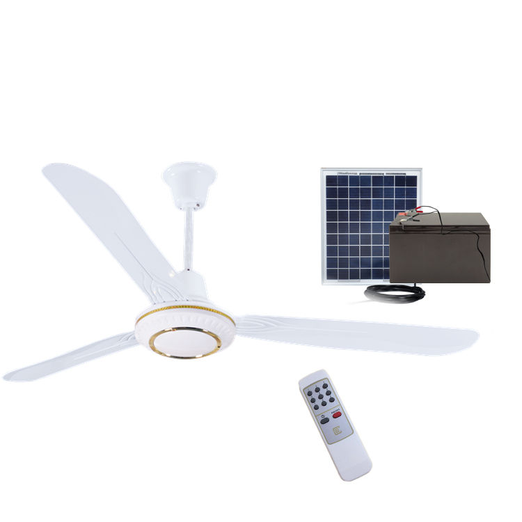 AC DC double use solar battery operated ceiling dc fan OEM