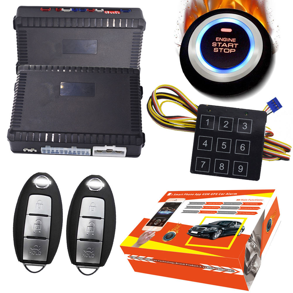 Autowatch Sirene Pieper push start stop knop systeem Upgrade beveiliging Auto Alarm