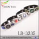 New customized 32 designs American football teams NFL leather bracelet