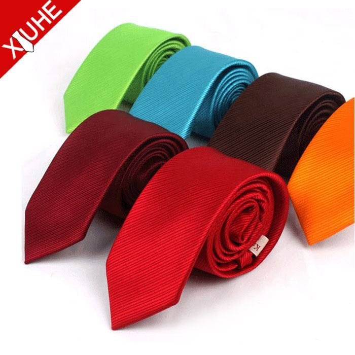High Quality Promotion Fashion Solid Color Ties Chinese Plain Neckties With Stock