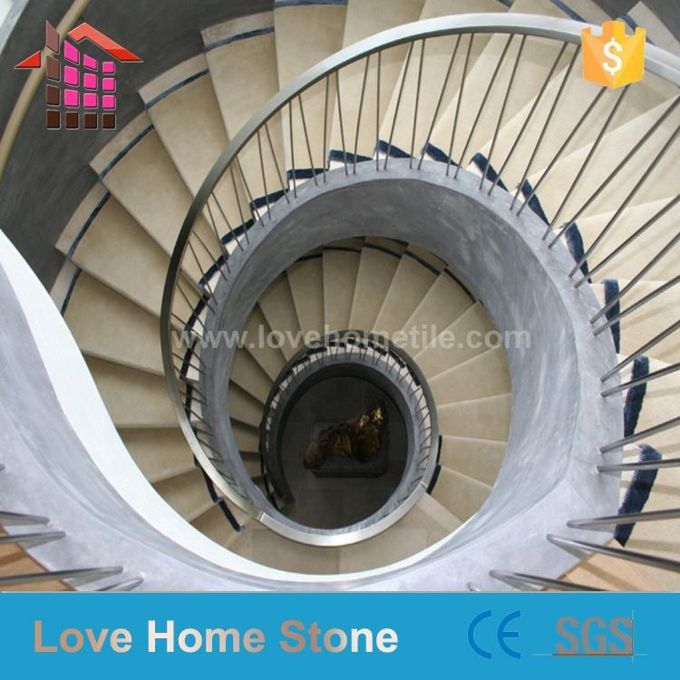 LOVE HOME STONE Polished Spiral Stair Marble Steps Design