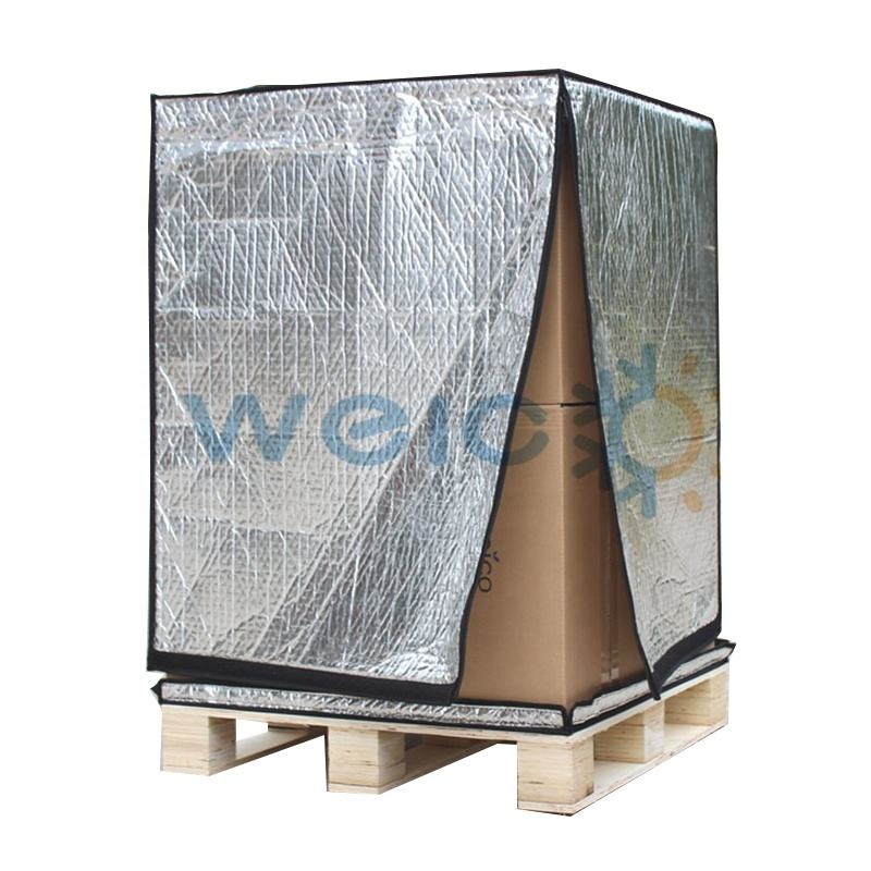 Heat resistance reusable pallet cover packaging