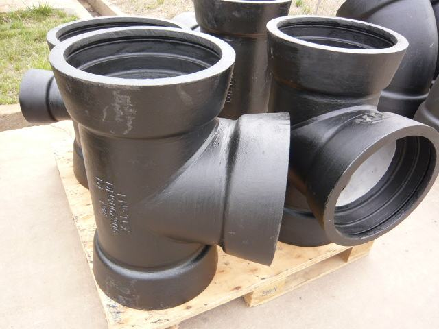 EN545 ductile cast iron fittings all socket tee