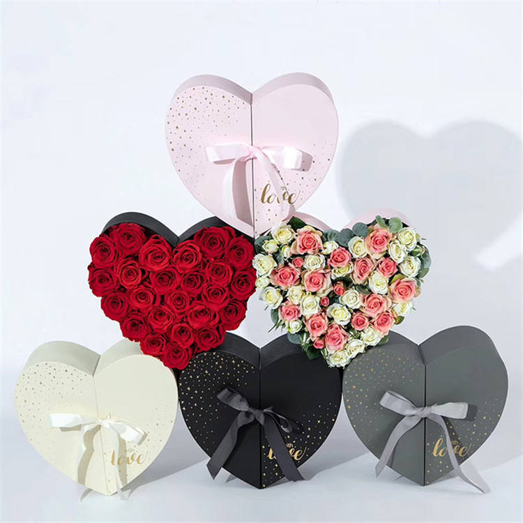 Customized Design Heart Shaped High Quality Paper Gift Boxes For Flower Package
