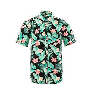 2019 Hawaiian shirt TREE PATTERN DIGITAL PRINTING SHIRTS HIGH QUALITY WHOLESALE FACTORY DRESS SHIRT FOR MEN