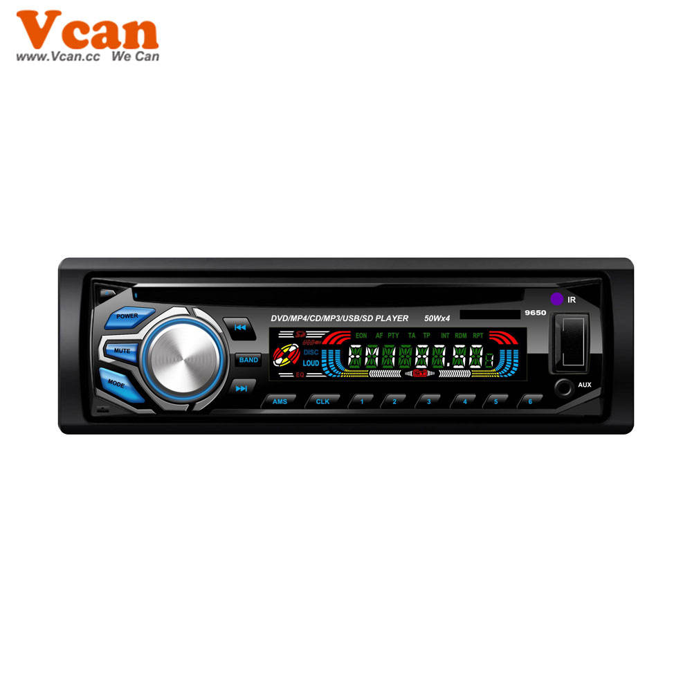 DVD DVCD CD MP3 MP4 USB kompatibel player Auto radio VCAN1236 in dash ein din standard