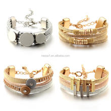 Fashion colorful gold and silver bracelet wholesale NSZ-100