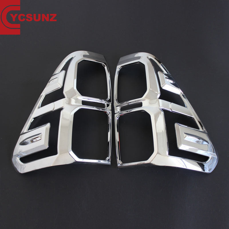 YCSUNZ ABS Chrome Bìa Tail Light Cho <span class=keywords><strong>Hilux</strong></span> 2016 Revo 2015