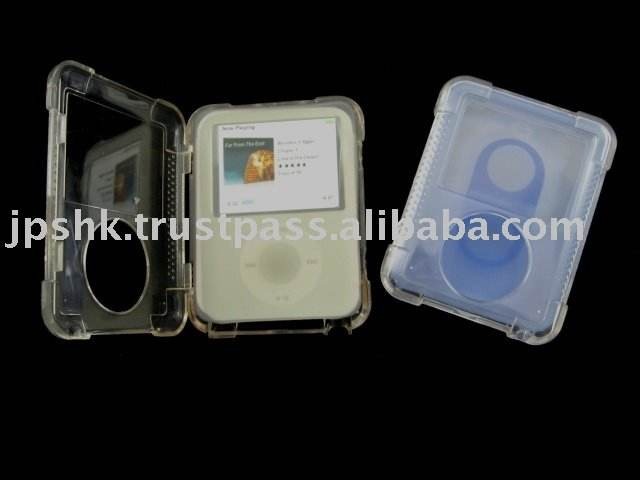 Cylstal Case With Silicone Case For Apple Ipod Nano 3 Gen