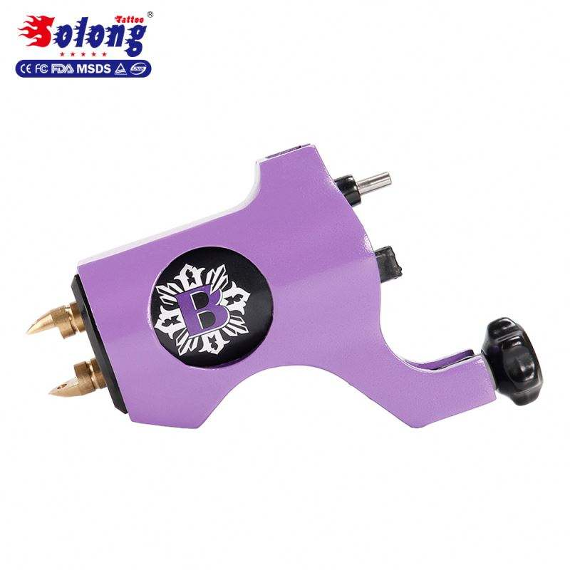 Solong Tattoo Brand M653-6 Purple Color 4.5w Motor Clip Cord Connect Line Body Art Machine Tattoo Machine Rotary Motors