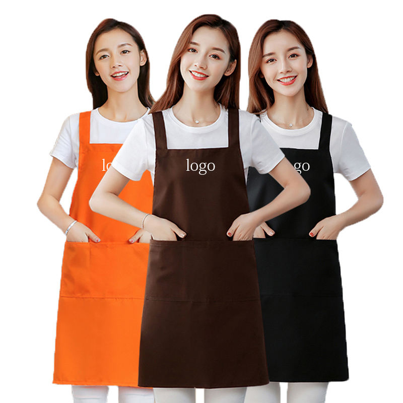 Printing custom logo bbq bar waiters work restaurant cafe kitchen cooking chef housewife apron