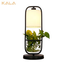Plant Modern Minimalist Metal Led Table Lamp For Living Room Bedroom Study Office, Reading Lamp