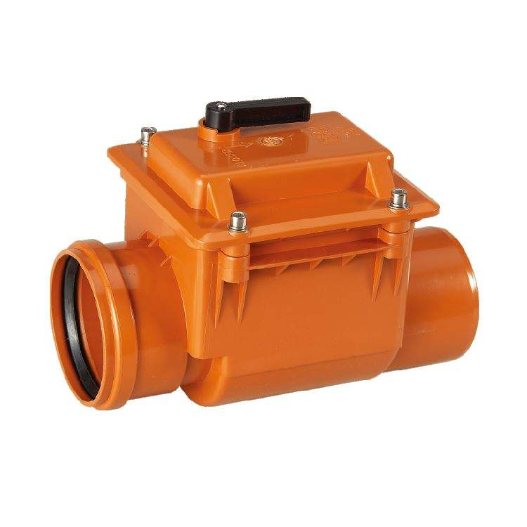 ERA brand PVC-U drainage non-return valve for pools and industrial water drainage