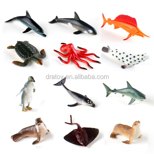 factory wholesale small PVC sea animal figurine for kids