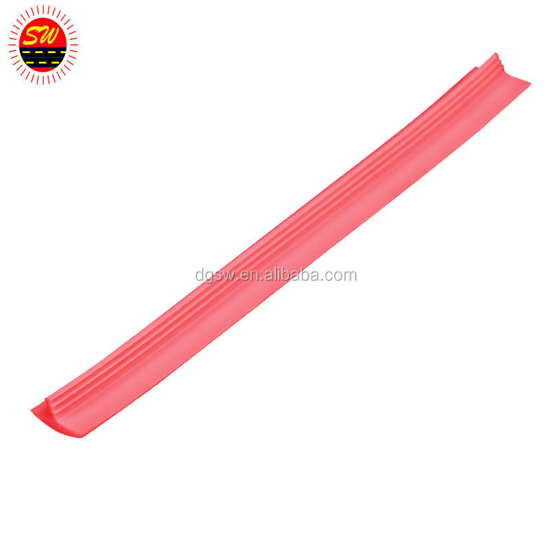 pvc plastic profile. flexible extruded plastic sealing strip
