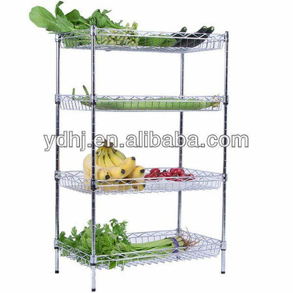 Chrome verstellbare draht stahl display rack