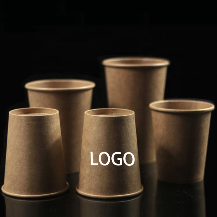 Yiwu craft paper custom coffee paper cup with logo printed