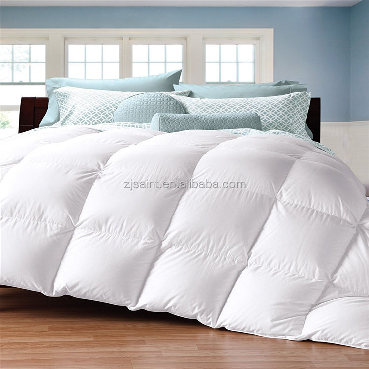 King size hotel white 100 goose feather down comforters quilt bed duvet down comforter