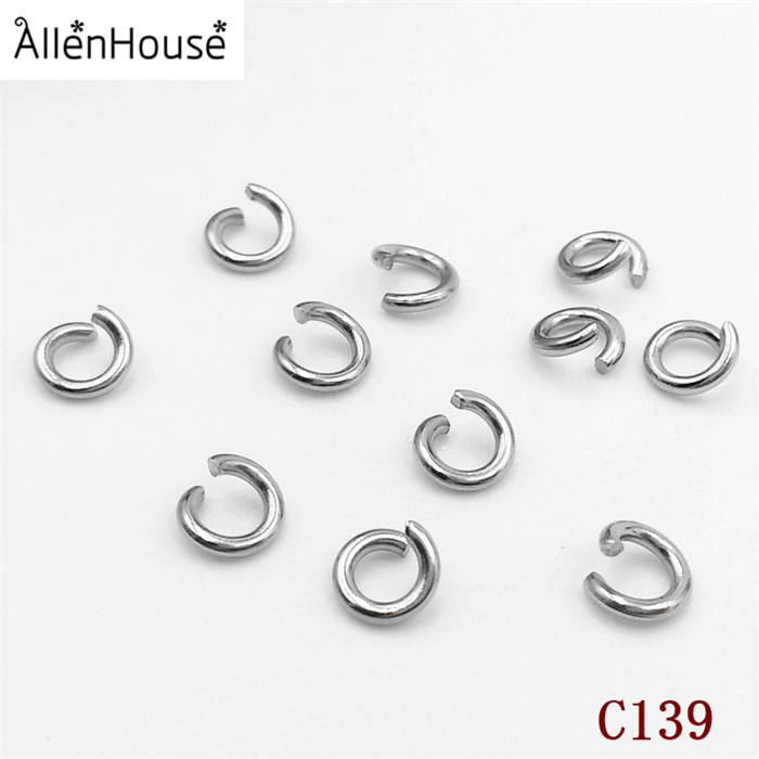 Factory Prices high quality Bulk Wholesale Different Size and colors stainless steel open Jump Rings