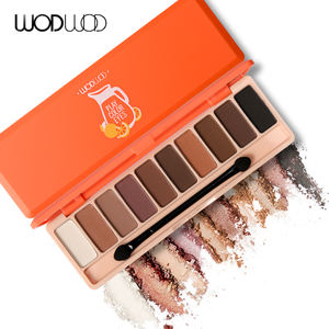 Wodwod Makeup Merek 10 Warna Matte Eyeshadow Palette Set Jus Bar Bumi Gemerlapnya Eye Shadow Bubuk Halus