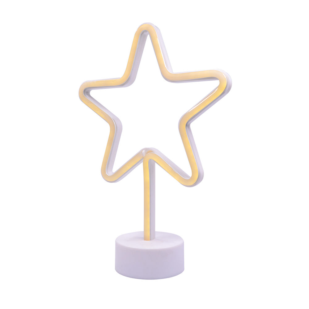 LED Pentagon-Star Decorative Light ins Hot Style with Base Interior Decorative Small Night Light Neon Light