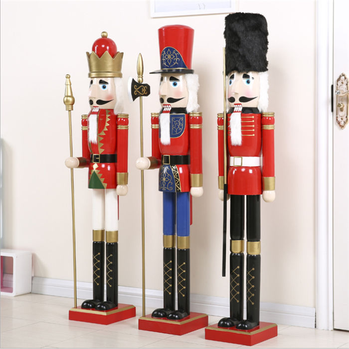 2019 top amazon best sellers wholesale christmas decoration ornament 120cm wooden 6ft life size large nutcrackers