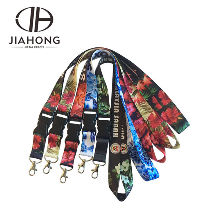 High quality promotional polyester sublimated custom satin ribbon