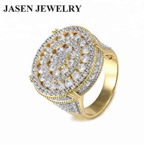 Hip hop bling jewelry 925 sterling silver engagement gold rings for Men