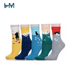 HM-A268 custom soft comfortable best female cotton sock for women and ladies in underwear cheap women's socks